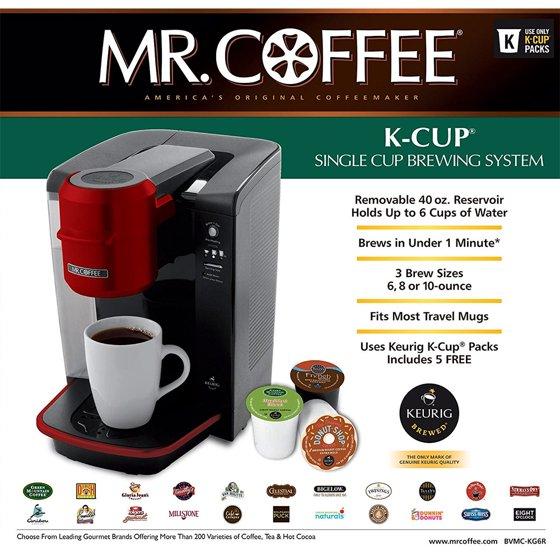 Mr Coffee Single Serve Coffee Brewer Powered By Keurig Brewing
