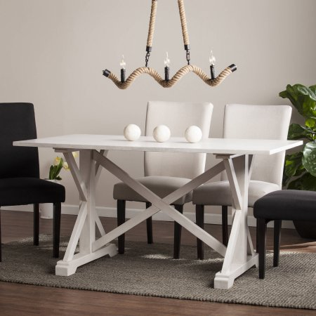 Southern Enterprises Cardwell Distressed Farmhouse Dining Table