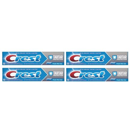 (4 Pack) Crest Tartar Control Fresh Mint Flavor Liquid Gel Toothpaste 6.4 -