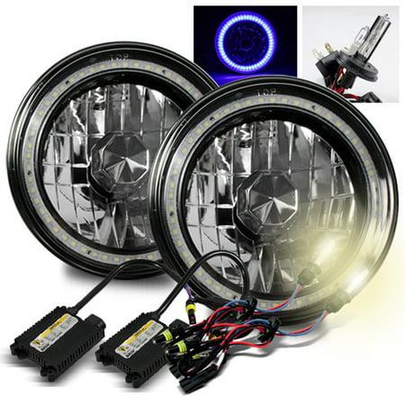 - ModifyStreet 4300K H4-2 HID + Hi-Power Blue SMD Halo Ring H6014/H6015/H6017/H6052/H6024 7