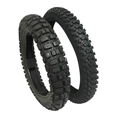 - TIRE SET: Front 80/100-21 Rear 120/90-18 Knobby Tires Dirt Bike Off Road Trail