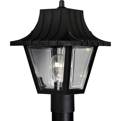 Progress Lighting P5414 Mansard Single-Light Polypropylene Post Light with Clear