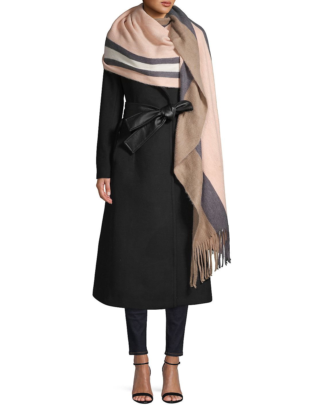 Supersoft Striped Scarf