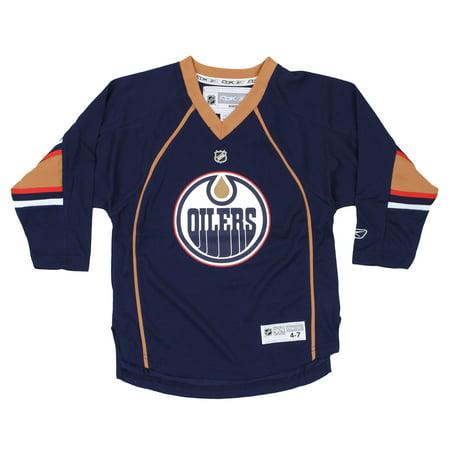 Reebok NHL Kids Edmonton Oilers Blank Alternate Replica Jersey, (Reebok Edmonton Oilers Patch)