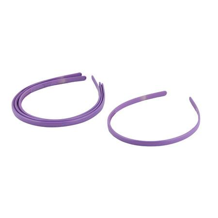 Lady Plastic Hair Hoop Headband Ornament Purple 4 Pcs