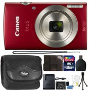 Canon PowerShot IXUS 185 / Elph 180 20MP Compact Digital Camera Red with Top Accessory Bundle - Best Reviews Guide