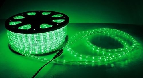 Green 2 Wire Outdoor Home Indoor Cuttable LED 110V Rope Light 150ft