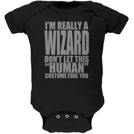 Halloween Human Wizard Costume Soft Baby One Piece for $<!---->