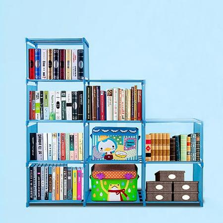 Bookshelf (9 Book Shelves) Home Furniture Adjustable Bookcase Storage ()