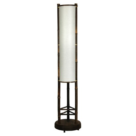 Oriental Furniture Koru Japanese Bamboo Shoji Lantern Floor Lamp