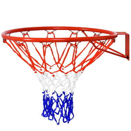 Gymax 18'' Basketball Ring Hoop Net Outdoor Hanging Basket ()