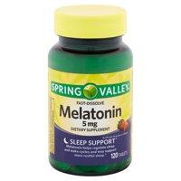 Spring Valley Fast-Dissolve Melatonin Tablets, 5mg, 120 Count