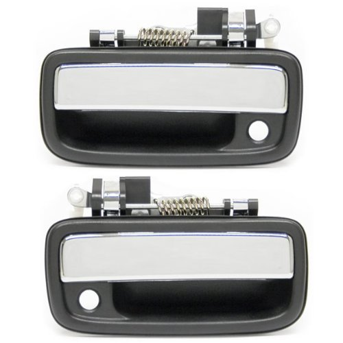 1995 2004 Toyota Tacoma Pickup Truck Front Outside Outer Exterior Chrome Door Handle Pair Set Left Driver And Right Passenger Side 1995 95 1996 96 By Aftermarket Auto Parts Walmart Com Walmart Com