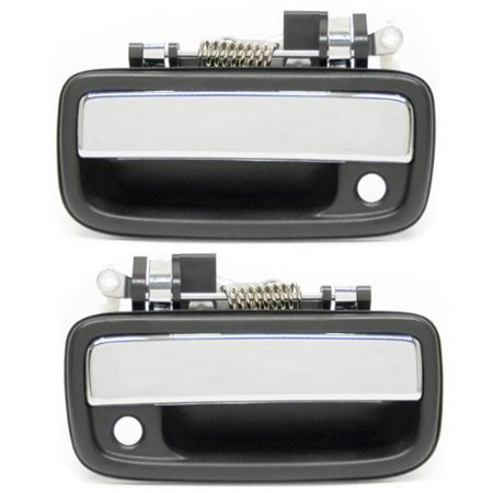 - 1995-2004 Toyota Tacoma Pickup Truck Front Outside Outer Exterior Chrome Door Handle Pair Set Left Driver and Right Passenger Side (1995 95 1996 96.., By Aftermarket Auto Parts