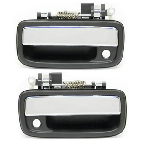 1995-2004 Toyota Tacoma Pickup Truck Front Outside Outer Exterior Chrome Door Handle Pair Set Left Driver and Right Passenger Side (1995 95 1996 96.., By Aftermarket Auto Parts