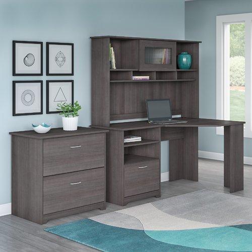 Red Barrel Studio Hillsdale Corner Desk with Hutch and La...