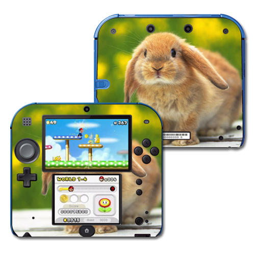 Mightyskins Protective Vinyl Skin Decal Cover for Nintendo 2DS wrap sticker skins Rabbit