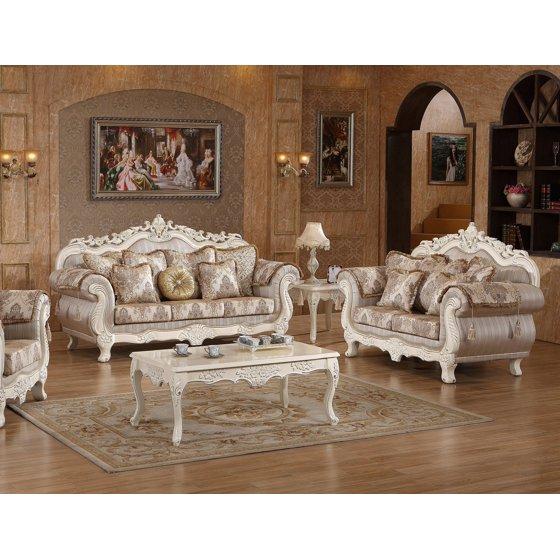 Traditional Living Room Sofa Sets: Beautiful Traditional Style 2pcs Sofa Set Formal Living