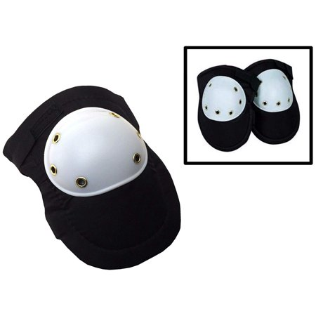 Heavy Duty Black Knee Pads Hard Polypropylene Cap Comfortable Foam Padding 2pc Pair (Heavy Knee Pads)