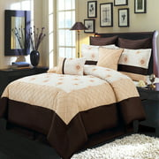 Madison Gold 8 Piece Bed in a Bag Set Includes Comforter, Skirt, Shams and Pillows