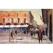 "Trademark Art ""Shopping in Italy"" Canvas Art by Ryan Radke"