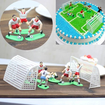 Football Cake Toppers (On Clearance 8Pcs Vintage Soccer Football Cake Topper Player Decor Tool Birthday Mold Set Home)