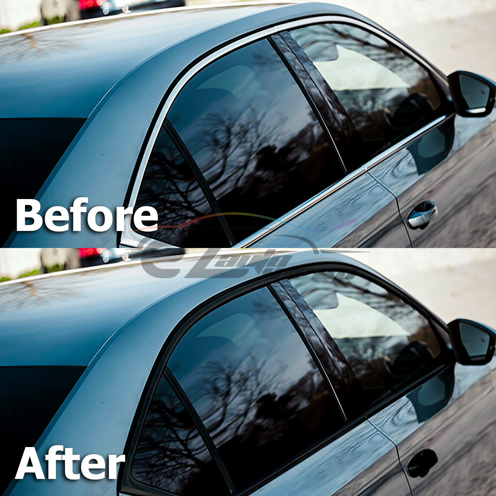 *Gloss Matte Black Vinyl Wrap Chrome Delete Car Window Door Trim Decal Sticker