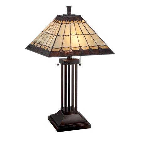 Lite Source LS-22260 Dark Bronze Arty 2 Light Table Lamp