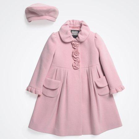 0479ce611b37 Rothschild - Rothschild Girls  Wool Dress Coat with Matching Beret ...