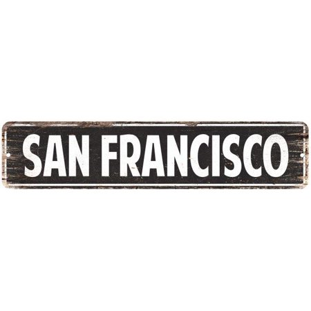 Halloween Stores In San Francisco (SAN FRANCISCO Street Plate Sign Bar Store Shop Cafe Home Kitchen Chic)