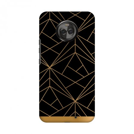 Kit Case 2 Tapes (Motorola Moto X4 Case, Premium Handcrafted Designer Hard Shell Snap On Case Printed Back Cover with Screen Cleaning Kit for Motorola Moto X4, Slim, Protective - Golden Elegance)