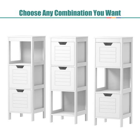 Costway Bathroom Wooden Floor Cabinet Multifunction Storage Rack Stand Organizer Bedroom - image 2 of 10