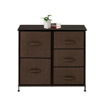 LYUMO Home Bedroom Cabinet Organizer with 5 Drawers Hallway Entryway Dresser, Storage Cabinet, Chest of Drawer