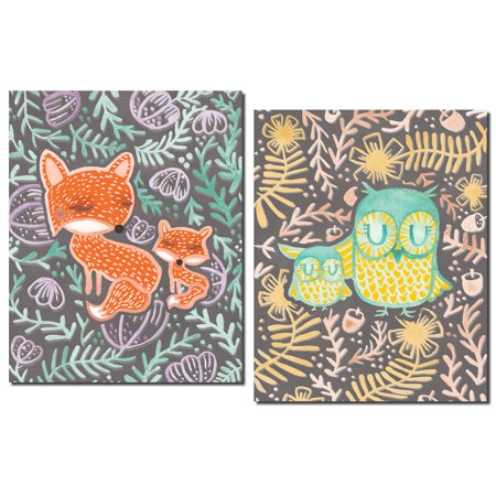 Decor Kit (2 Adorable Owl, Owlette, Fox and Kit Set; Floral Decor; Two 11x14in Poster)