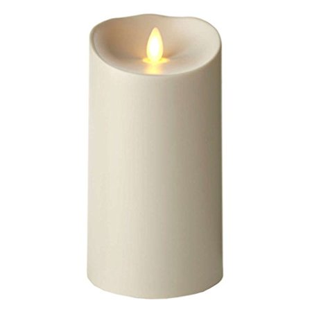Luminara Outdoor Flameless Candle: Plastic Finish, Unscented, Remote Ready LE...