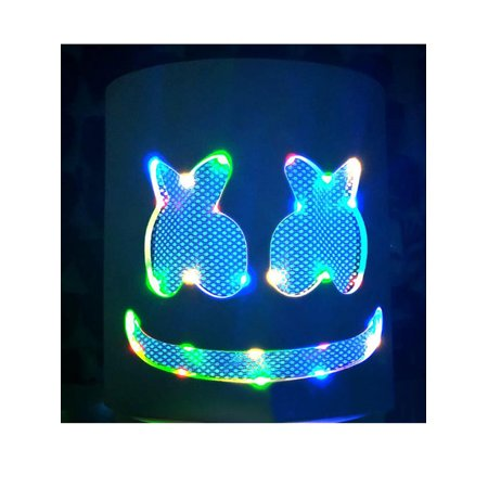 Music For A Halloween Party (Halloween DJ-MarshMello LED Masks Full Head Helmet Easter Costume Bar Music)