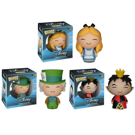 Funko Dorbz Vinyl Figures - Disney Series 1 - SET OF 3 ALICE IN WONDERLAND (Mad Hatter, Queen+1) - Alice In Wonderland Characters White Queen