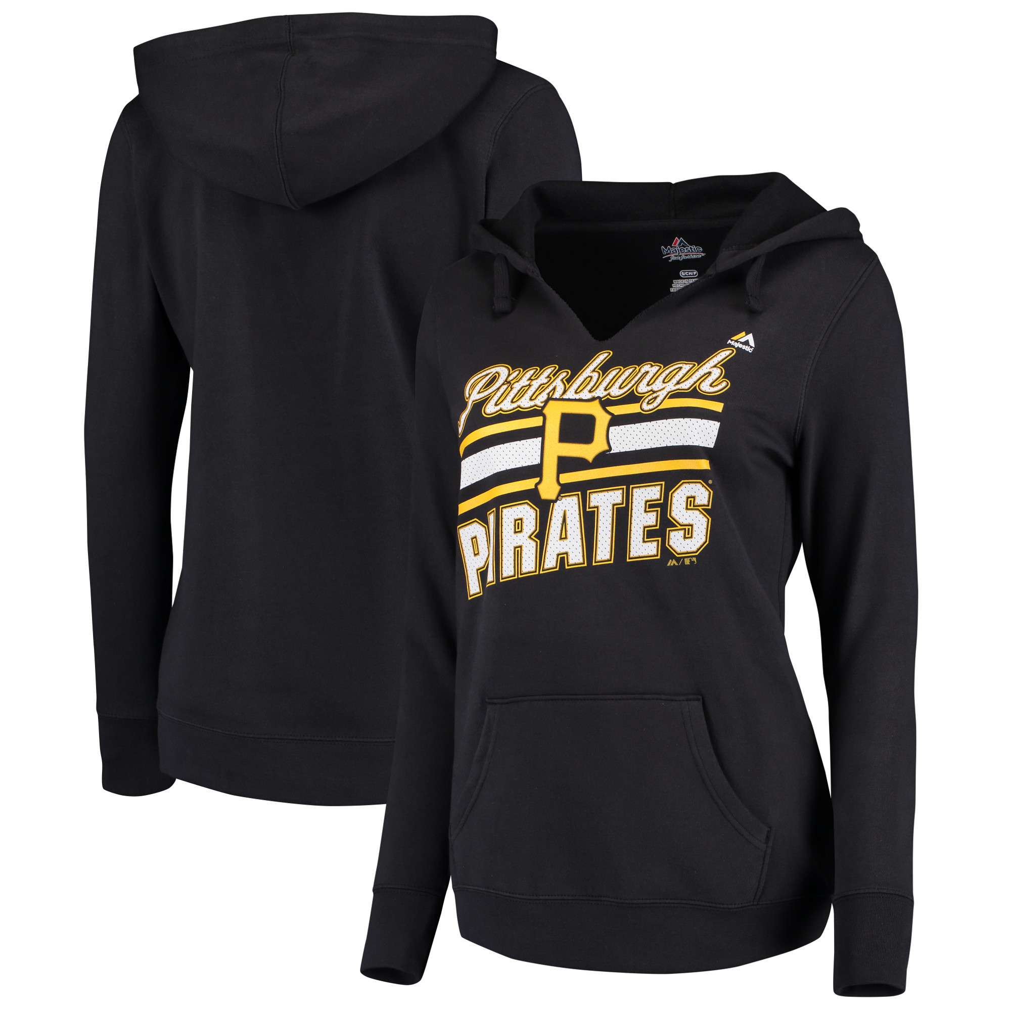 Pittsburgh Pirates Majestic Women's Prime Example Pullover Hoodie - Black