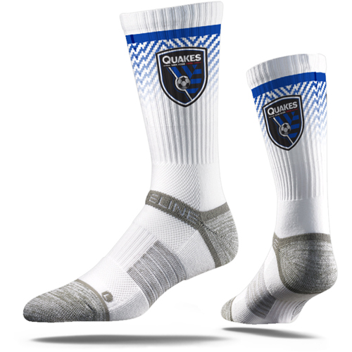 San Jose Earthquakes Premium Crew Socks - White - M/L