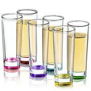 JoyJolt Hue Colored Shot glass Set, 6 Piece Shot Glasses by JoyJolt