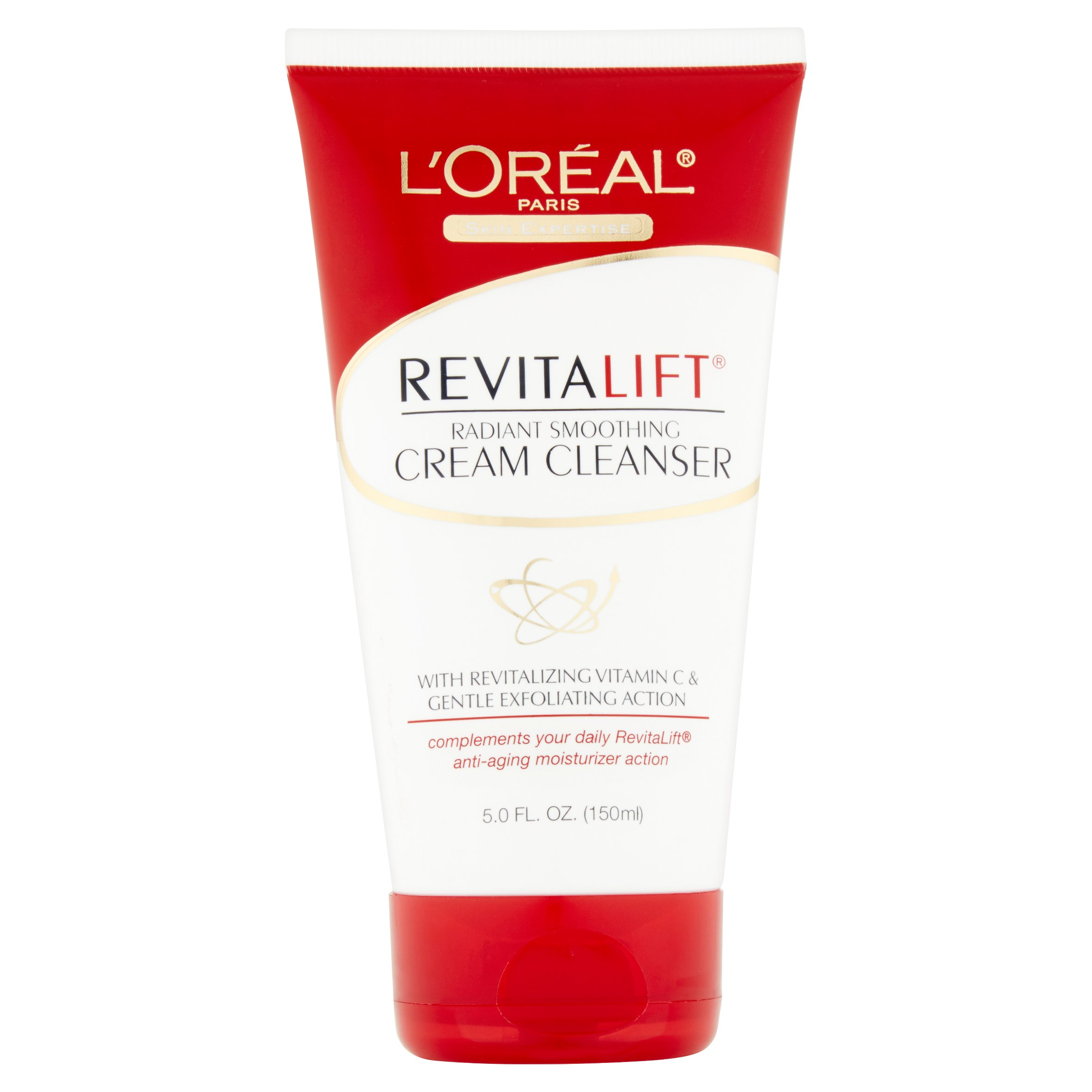 L'Oreal Paris Skin Expertise Revitalift Radiant Smoothing Cream Cleanser, 5.0 fl oz