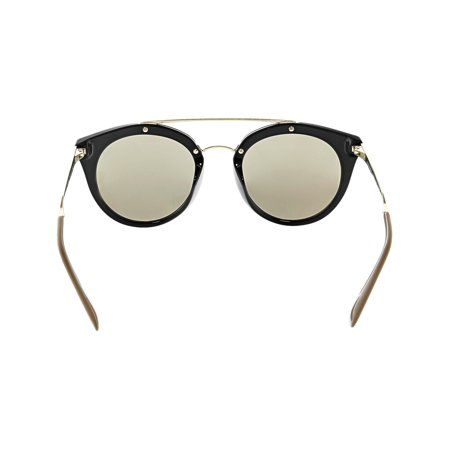 85a9f05faf72 Prada Women s Mirrored Cinema PR23SS-1AB1C0-52 Black Cat Eye Sunglasses -  image 1 ...