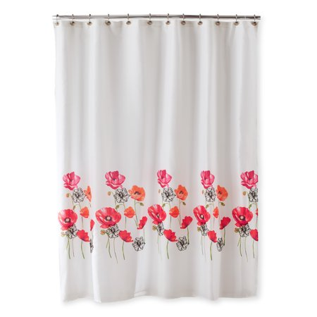 Better Homes Gardens Embellished Poppies Shower Curtain