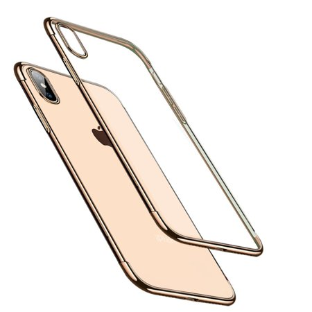 For iPhone Plating Transparent Soft TPU Electroplate Mobile Phone Case for iPhone XR