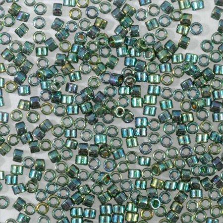 Miyuki Delica Seed Bead 11/0 Gold Luster Blue Green AB (18 Grams)