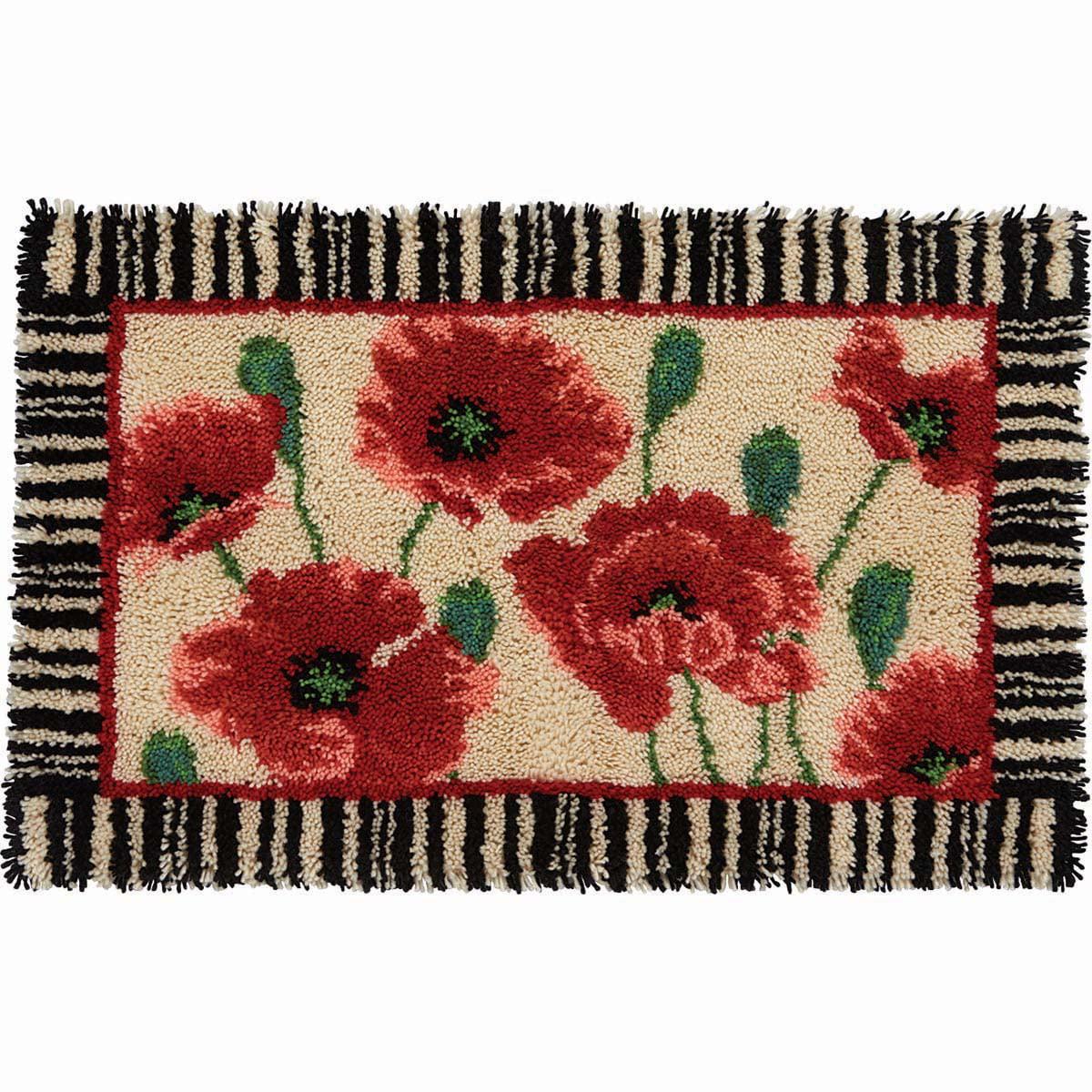 Herrschners® Poppies & Stripes Latch Hook Kit