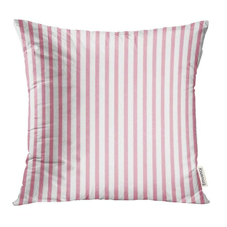 ARHOME White Birthday Stripes Abstract Pink Blank Border Born Brush Burlap Celebration Pillowcase Cushion Cases 18x18 inch