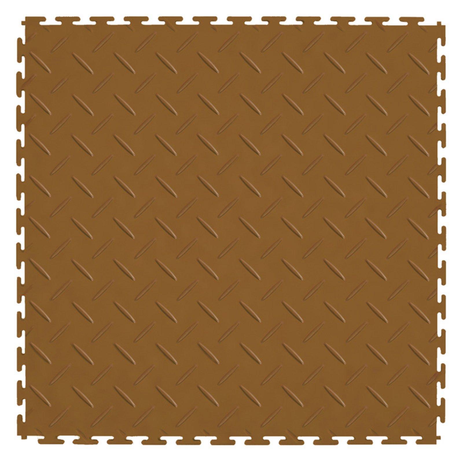 Perfection Floor Tile Diamond Plate PVC Interlocking Tiles - 8 pk.