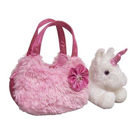"7"" Plush Pink Pet Carrier Fancy Pal Purse Plush Stuffed Animal"