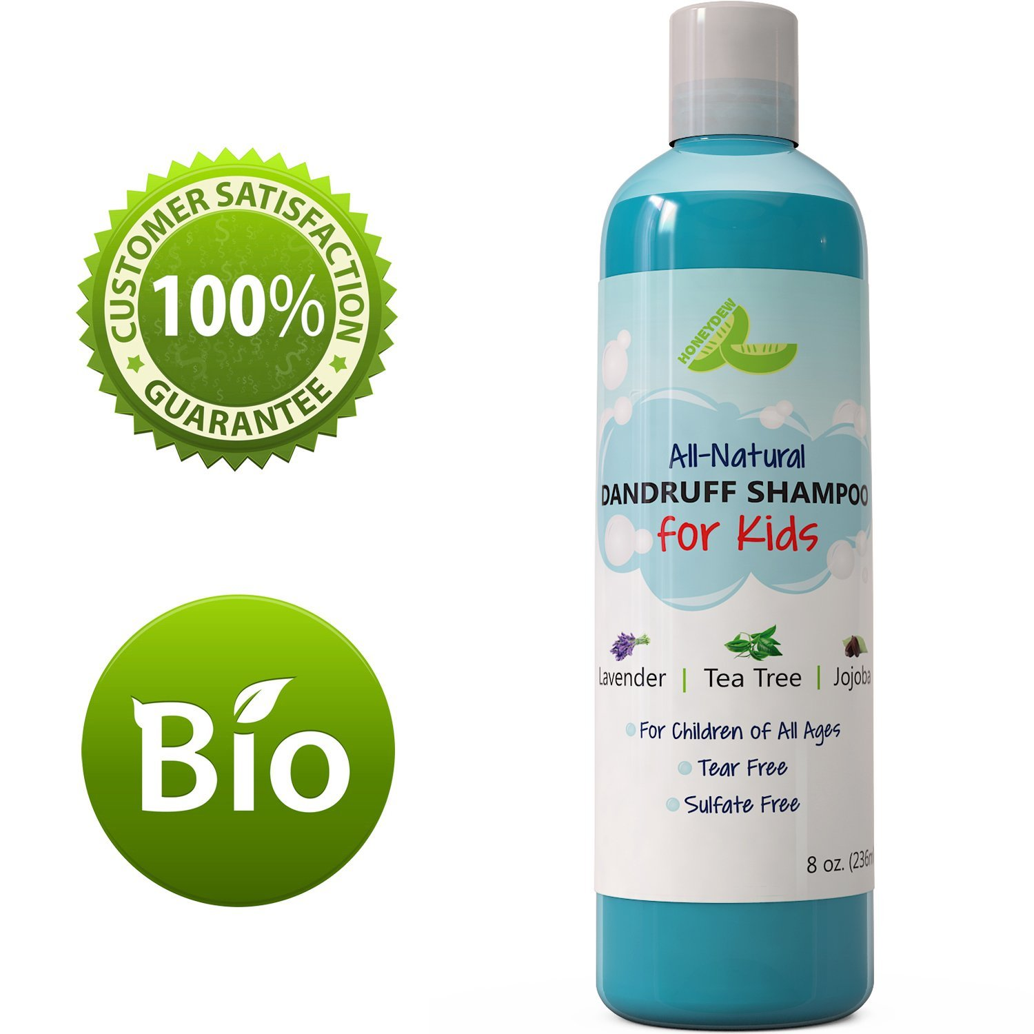 Honeydew Anti Dandruff Shampoo for Kids, Best Tear Free + Sulfate Free, Natural Hair Care Product, 8 Oz